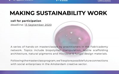 Making Sustainability Work: Call for participation: masterclasses & project development